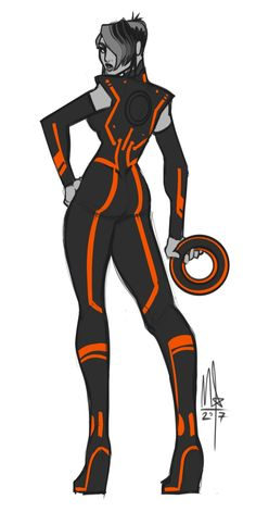 TRON — bigmsaxon: A quick Paige from Tron: Uprising.