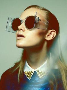 Sunglasses and side visors. Super cool.