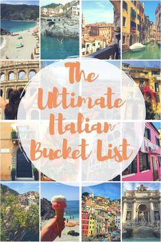 The Ultimate Italian Bucket List!  Oh Italy, a country filled with historic architecture, charming streets and the most delicious cuisine. This country truly has something to offer everyone.  So here are somethings for you to add to your Italian Bucket List. I hope this inspires you to travel to one of the most beautiful countries in the world. Here are 50 Things You Have to do in Italy!