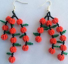Hey, I found this really awesome Etsy listing at https://www.etsy.com/listing/261049994/mexican-huichol-beaded-earrings