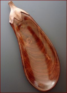 Artist Terry Widner / Eggplant 2014 Walnut