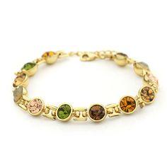 Neoglory Auden Rhinestone Charm 14K Gold Plated Bracelets & Bangles for Women Gift Wholesale Fashion Jewelry 2013 $11.12