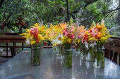 Rústicos primaverales Centros de mesa Matrimonios