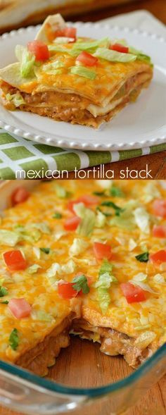 7 ingredients + 25 minutes of bake time is all you need to serve up this delicious Mexican Tortilla Stack.
