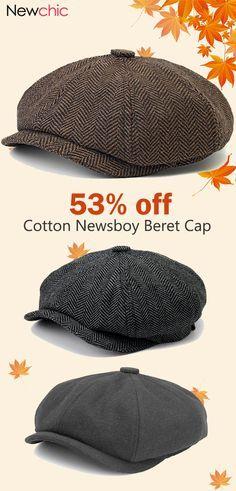 7b464e519 Men Visor Cotton Newsboy Beret Cap Outdoor Casual Warm Comfortable Cabbie  Hat