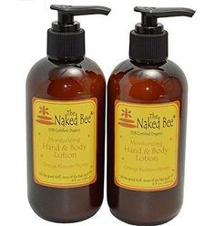 Naked Bee Orange Blossom Honey Hand and Body Lotion 8 oz Pack of 2