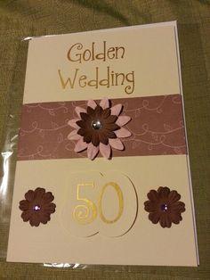 Individual Golden wedding card