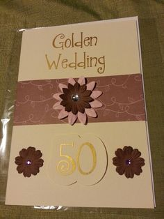Individual Golden wedding card