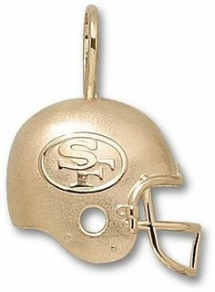 """San Francisco 49ers """"SF Helmet"""" Pendant - 14KT Gold Jewelry by Logo Art. $224.95. Enjoy this official NFL licensed San Francisco 49ers pendant. A great gift for any San Francisco 49ers fan! You often see shirts, caps and jackets that feature logos from your favorite collegiate and professional sports teams. Now you can add high quality jewelry products to the list!You will love the exciting collections available for each school and team! There are more than 300 ..."""