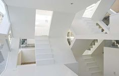S-HOUSE, SAITAMA, JAPAN Inside the property looks like something out of an Escher drawing with the multiple staircases and levels all on view due to the lack of walls. The property's four glazed facades allow passers-by to peek into its interior – this is definitely not a house for introverts.
