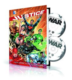 In a universe where super heroes are strange and new, Batman has discovered a dark evil that requires him to unite the World's Greatest Heroes! Superman, Batman, Wonder Woman, Green Lantern, Aquaman, The Flash and Cyborg unite for the first time to form the JUSTICE LEAGUE in these stories from issues #1-5 of the smash-hit series!  Included with this volume is the animated movie JUSTICE LEAGUE: WAR on Blu-Ray and DVD discs, bringing Geoff Johns and Jim Lee's epic story to the screen.