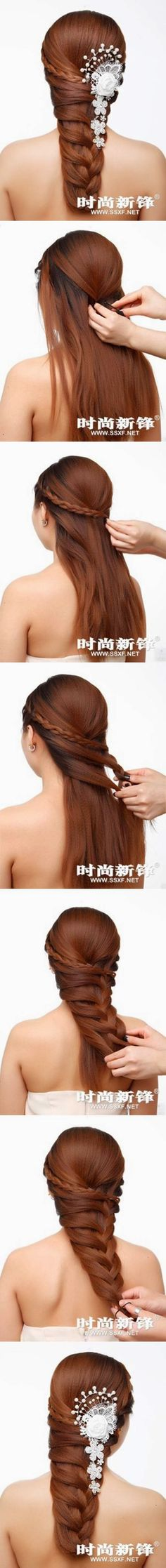 DIY Asymmetrical Braided Hairstyle