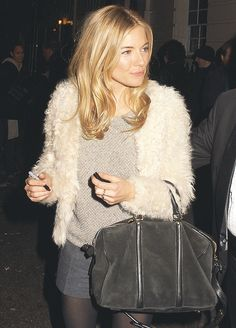 sienna does winter white with LV sofia coppola bag