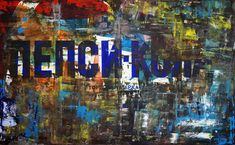 """Marwan Chamaa, """"Pepsi Coloa"""", 2019, acrylic on canvas, 140 x 227 cm (55.12 x 89.37 inch). All images are used with the permission by the artist. Re-Pinning is permitted, however, please do not distribute, reproduce, reuse in any shape or form without first contacting the artist: marwan@art-factory.us © Marwan Chamaa First Contact, Pepsi, Shapes, Canvas, Gallery, Artist, Painting, Image, Painting Art"""