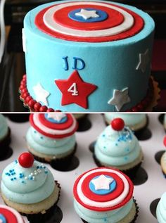 Captain America cupcakes  www.kupcakespot.com