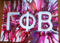 Do It Yourself Just Like That: Gamma Phi Beta Crayon Melt #Gr