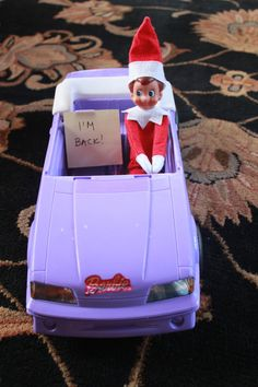elf on the shelf arrival idea...