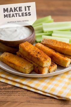 Buffalo Tofu Wings with Creamy Ranch Dip Recipe