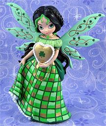 "Love and Friendship - Irish / Celtic Fairy statue from Jasmine Becket-Griffith & the Hamilton Collection - ""Life Charms"""