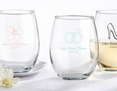Shedding the stem for a graceful presentation, this 9 oz stemless wine glass favors makes a unique personalized wedding favor. Pair it with one of the available gift boxes for a unique wedding favor guests will love. Engraved Wedding Gifts, My Wedding Favors, Personalized Wedding Favors, Bridal Shower Favors, Wedding Ideas, Party Favors, Wedding Stuff, Wedding Planning, Wedding Inspiration