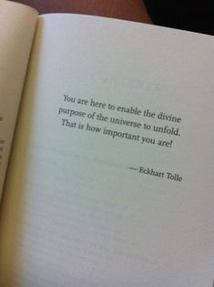 Your Purpose ~ a quote from Eckhart Tolle (one of my all-time favorite quotes)
