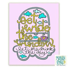 Handlettering quote illustration from Mandy Ford Art & Illustration