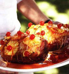 Com: Jamaican Christmas Recipes - Jamaican Ham (Christmas Recipes Ham) Christmas Food Treats, Christmas Ham, Christmas Cooking, Holiday Desserts, Holiday Recipes, Christmas 2014, Christmas Recipes, Traditional Jamaican Food, Caribbean Recipes