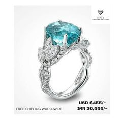 #jaipuratozdiamonds Alluring Handmade Real Diamond Ring made up in Sterling Silver. The Diamond Weight is 0.70 cent. We are the manufacturers of High Quality Diamond Jewelry.