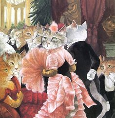 Victorian Cats Susan Herbert Antique / by HeatherwoodArtPrints
