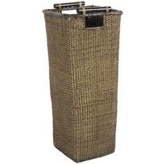 Rattan umbrella stand with cut-pole wood handles. Product: Umbrella standConstruction Material: Rattan and wood. Oriental Decor, Oriental Furniture, Wicker Patio Furniture, Cool Furniture, Wooden Walking Sticks, Rattan Basket, Baskets, Wall Fans, Transitional House