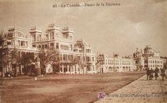 La Coruña: Paseo de la Dársena. Heliotipia Kallmeyer y Gautier nº 60. Años 20…