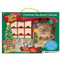 Christmas Tree Ornament Advent Calendar Wood Painting Kit