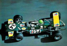 Henri Pescarolo - Brabham BT30 Cosworth FVA - Bob Gerard Racing - XXX Grand Prix Automobile de Pau 1970