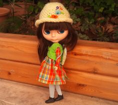 4 piece orange outfit for Blythe by RainbowDaisies on Etsy