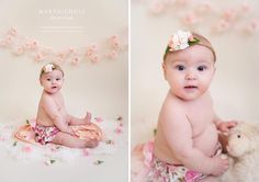 Sitter Session Photo Ideas | Baby Photography | 6 Months | Props | Girl | Pink 💕 halo: @babyblissprops .  .  .  .  .  #syracusebabyphotographer #syracusebabyphotography #babyphotographersyracuse #babyphotographysyracuse #syracusephotographer #syracusephotography #syracuse #centralnewyork #cny #ny #babyphotographer #babyphotography #baby #babygirl #pink #studio #naturallight #flowers #manlius #monday #babyblissprops #marynicholsphotography