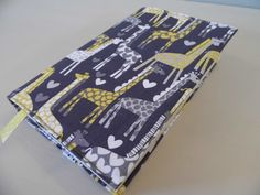 I Love Giraffes Handmade Fabric Book Cover by BookAndCover on Etsy