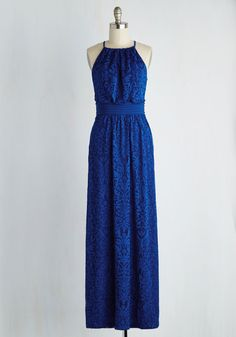 Chance to Captivate Dress in Cobalt. An evening as elegant as tonight's calls for this cobalt blue gown! #blue #prom #modcloth