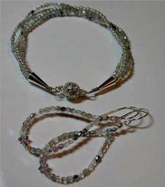Silver Sparkled Wedding Jewelry