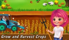Be the owner of your own #Farm & complete lots of fun activities like grow & #harvest the #crops in this #KidsGame.