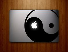 Ying Yang Mac Decal Macbook Stickers Macbook by letsdoscience