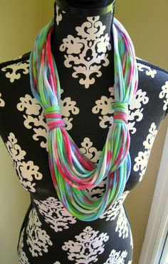 Summer Scarves T shirt Scarf Tie Dyed Scarf by Scarvesbystephy, $25.00