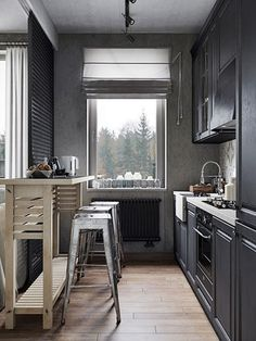 Small Modern Industrial Apartment Decoration Ideas – Decorating Ideas - Home Decor Ideas and Tips Industrial Home Design, Industrial Apartment, Industrial House, Industrial Interiors, Modern Industrial, Interior Design Kitchen, Modern Interior Design, Interior Design Inspiration, Kitchen Decor