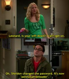 Haha! I love the big bang theory :)