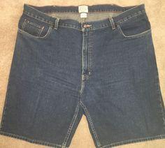 St John's Bay 46 Waist Denim Shorts Jean Shorts Dark Wash   eBay