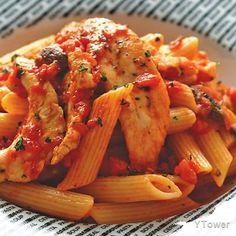 雞肉蘑菇蕃茄斜管麵食譜 - 雞肉料理 - 楊桃美食網 專業食譜