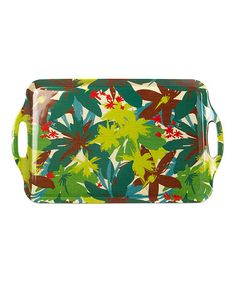 Loving this Tropical Leaves Serving Tray on #zulily! #zulilyfinds