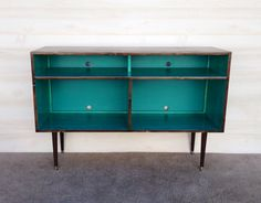 Mid Century Modern Record Cabinet TV Table by TinyLionsDesigns
