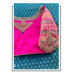 Blouse Back Neck Designs, Hand Work Blouse Design, Simple Blouse Designs, Stylish Blouse Design, Pattu Saree Blouse Designs, Blouse Designs Silk, Designer Blouse Patterns, Bridal Blouse Designs, Traditional Blouse Designs