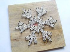Diy Snowflake String Art • Free tutorial with pictures on how to make string art in under 60 minutes