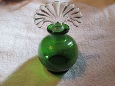 """VINTAGE PERFUME BOTTLE 5 3/4 """" Tall With Ground Stopper"""